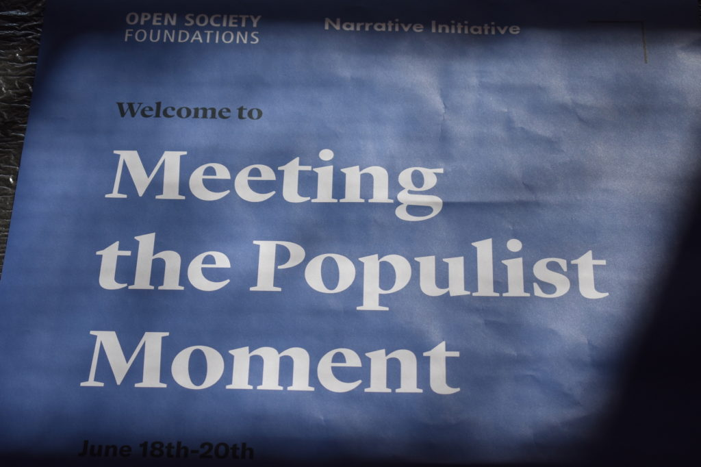 Poster used at Meeting the Populist Moment event in Berlin