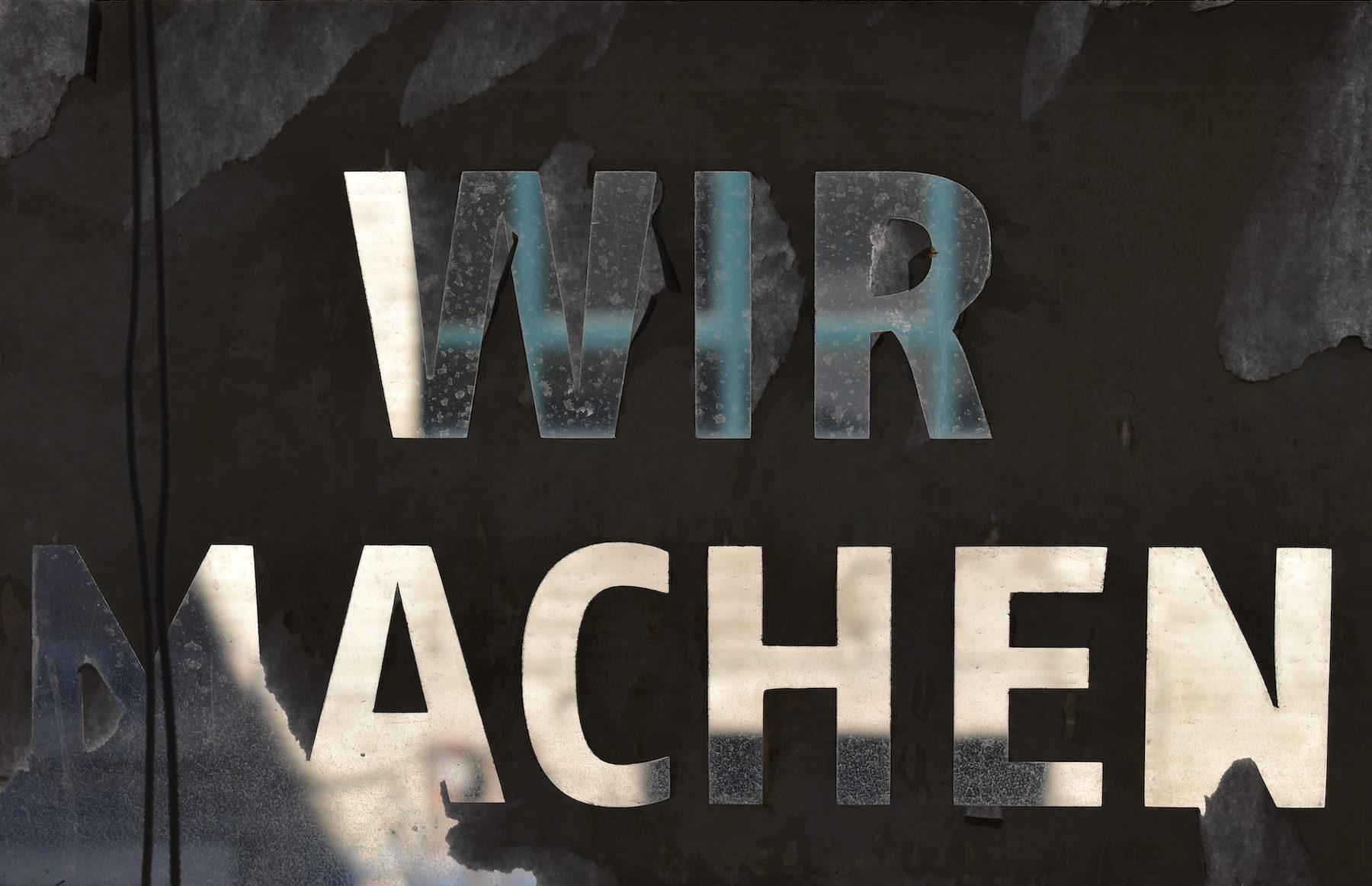 Wir Machen - We Do - taken at Fabrik23 in Berlin