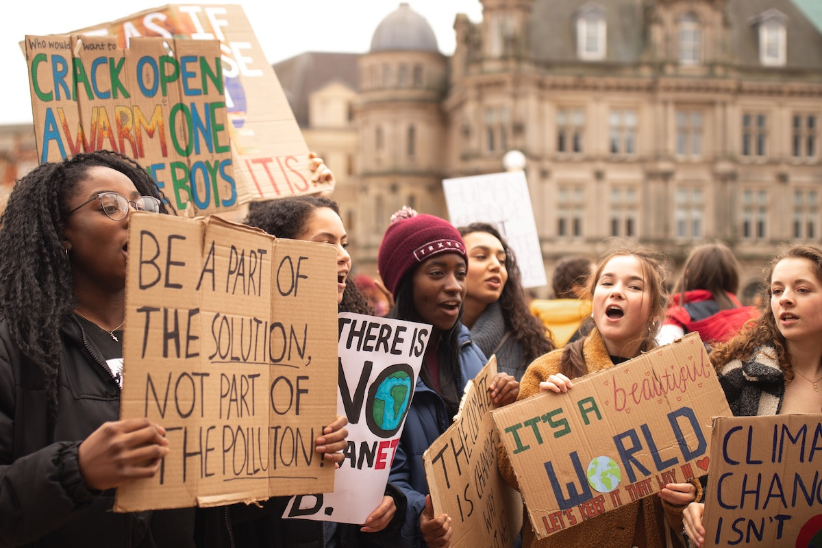 Youth take action for climate change.